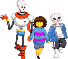 Friends with skelebros