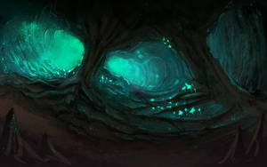 Glowing caverns by The-Gij