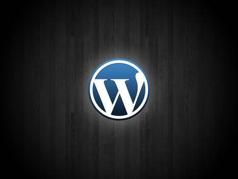 Wordpress Wallpaper on Wood