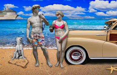 David and Aphrodite's Beach Day