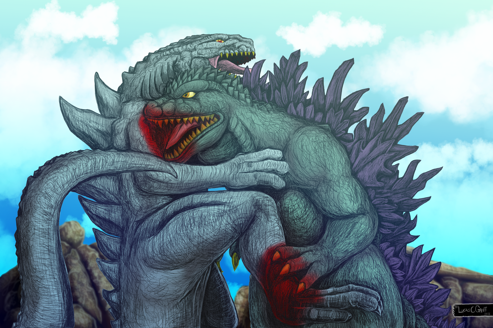 Godzilla Vs Zilla by LucasCGabetArts on DeviantArt