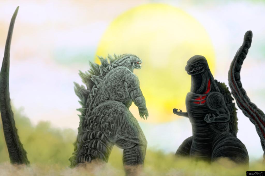 Legendary Godzilla Vs. Shin Godzilla by LucasCGabetArts