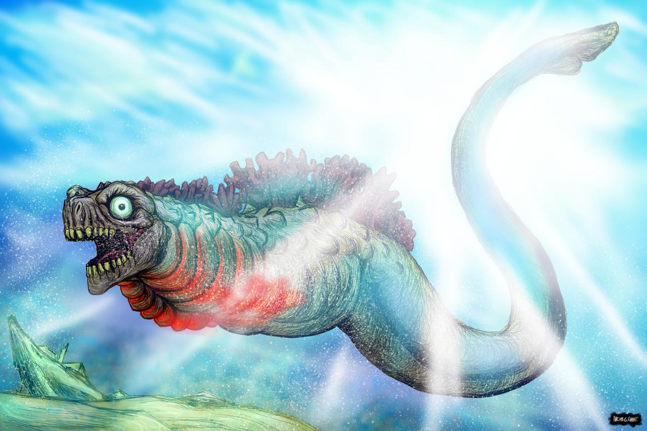 Shin Godzilla First Form for Kaiju X by LucasCGabetArts on DeviantArt
