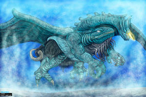 Bakan - Water God Beast Form for KaijuX by LucasCGabetArts