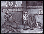 The Beaumont Sisters in the Dragon Room