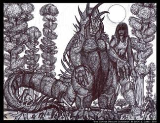 The Gentle Dragon Guardian by LucasCGabetArts