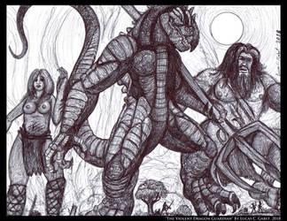 The Violent Dragon Guardian by LucasCGabetArts
