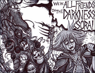 We Are All Friends in the Darkness by LucasCGabetArts