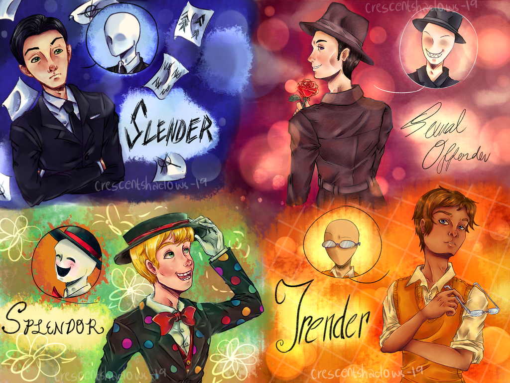 Humanized Slender Brothers By Crescentshadows19 On Deviantart