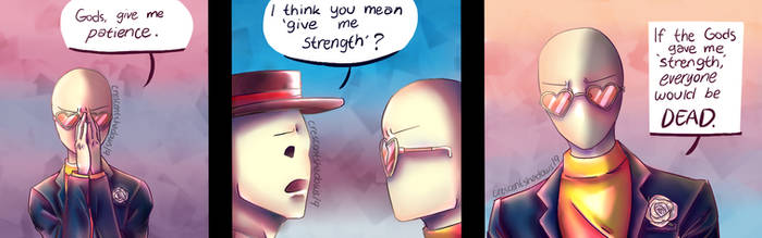 Yeah, let's not give him anymore strength... by crescentshadows19