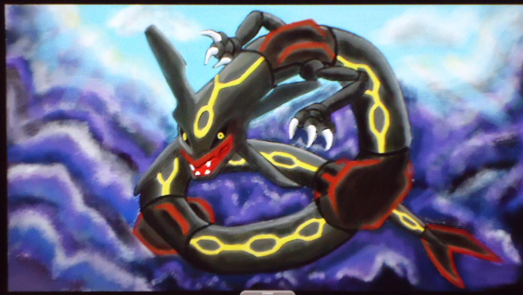 Pokemon: Shiny Rayquaza by GhostNinja1373 on DeviantArt