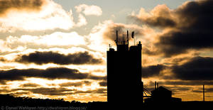 Silhouette of a tower by DaaMaaN