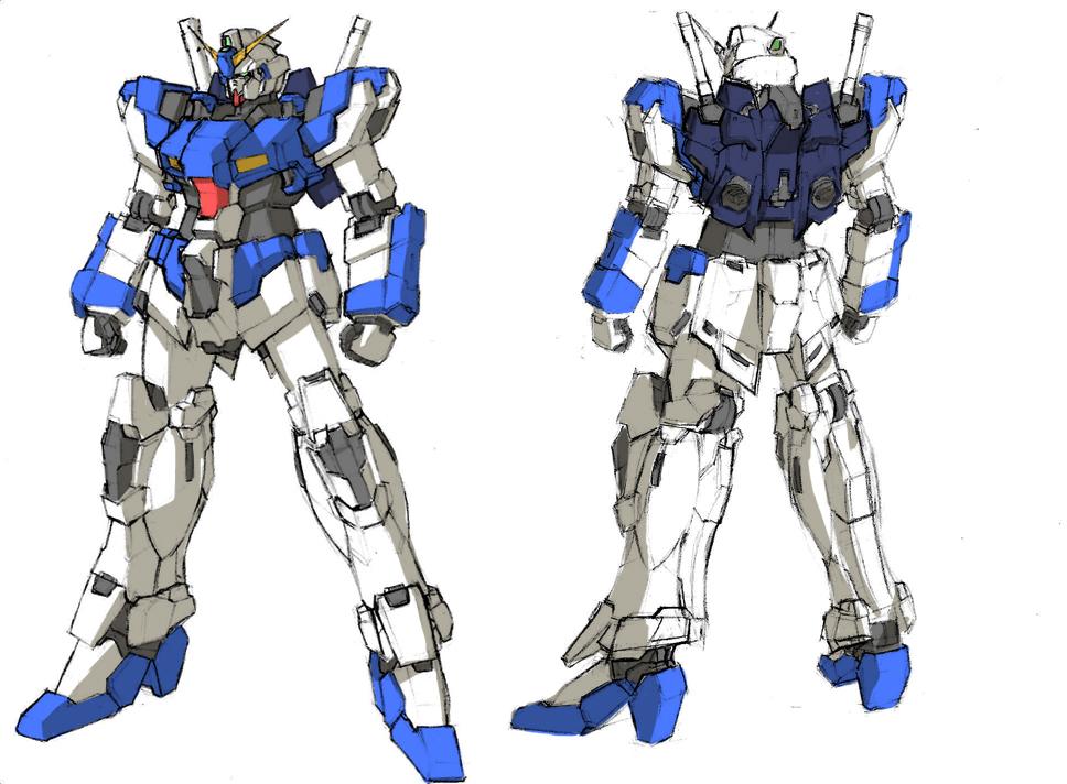 RX-107 Riot Gundam by kadejp3