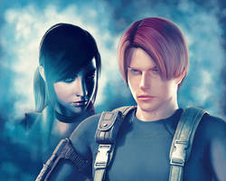 Claire and Leon. by AnEndlessVanity