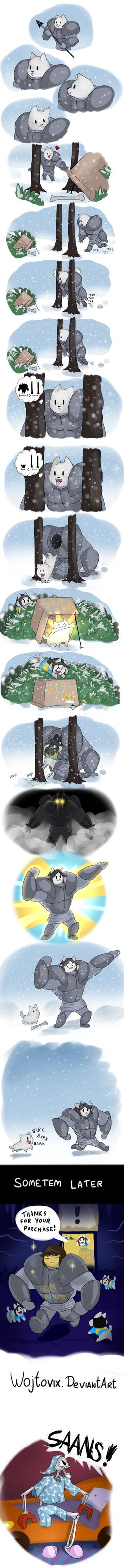 Tem armor origins - Comic by Wojtovix