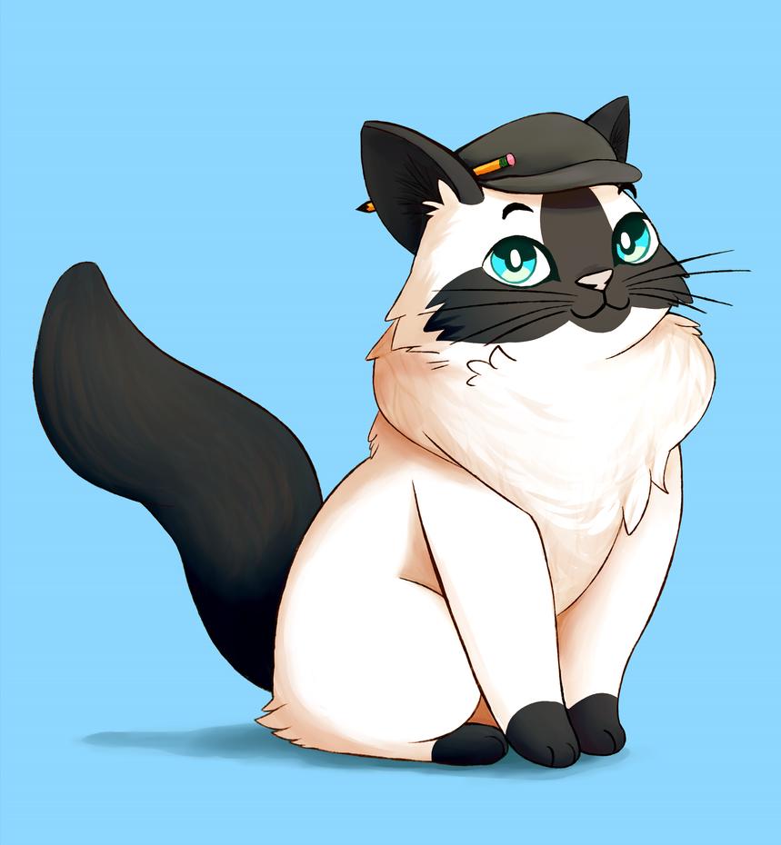Ragdoll Cat - Commission by kitsuakari