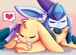 Jolteon/Glaceon Cuddles