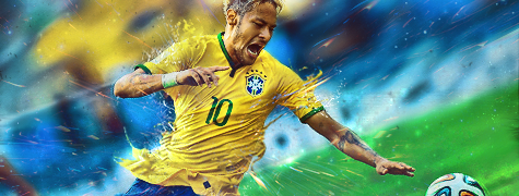 Neymar Brazil - WM 2014 by Piotr-Designs