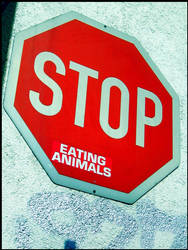 stop eating animals by Tyziel