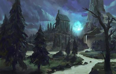 Creepy Castle by Milkduster