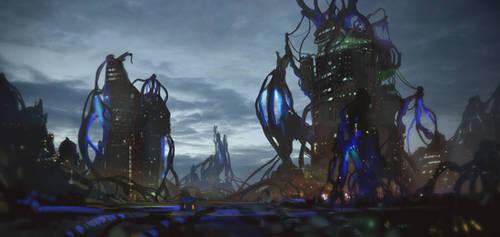 Sci-fi City by Milkduster