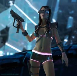 Cyberpunk Robogirl
