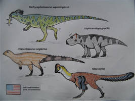 Hell Creek Formation Dinosaurs II by RaptorGorilla
