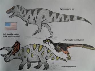 Hell Creek Formation Dinosaurs IV by RaptorGorilla