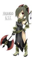 Gijinka: Haxorus by crino-line