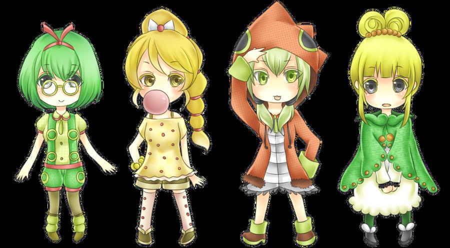 Gijinka: Caterpillarrrrrrrs by crino-line