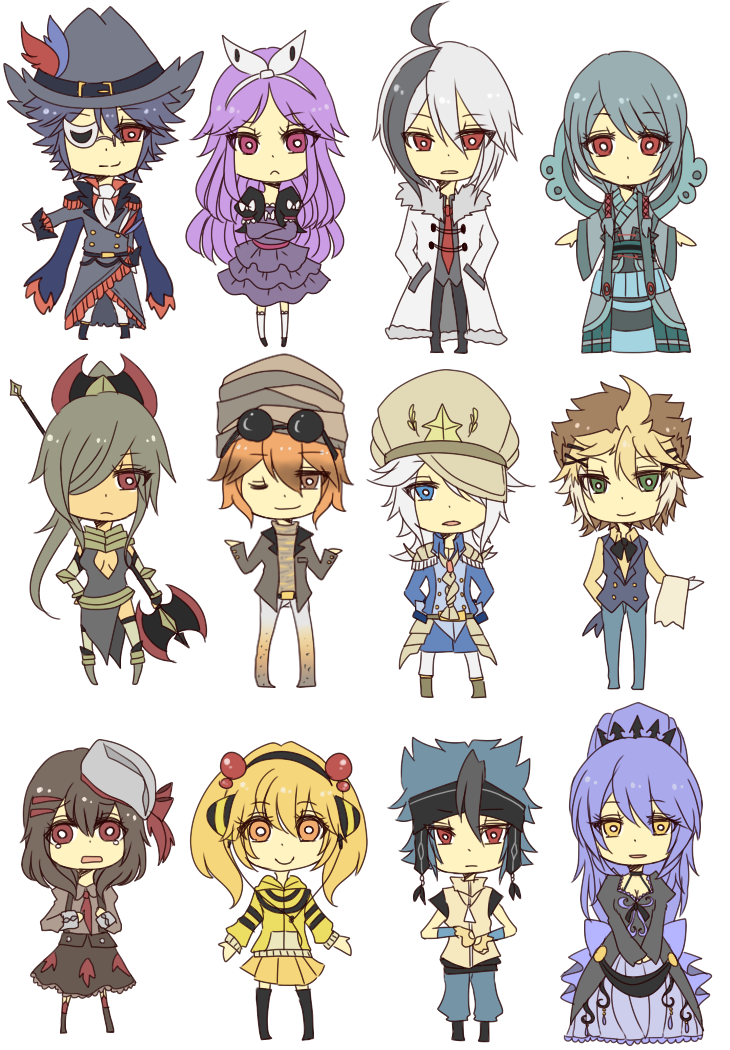 Gijinka: Chibi Assembly 2 by crino-line