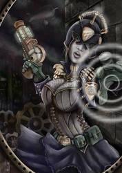 Steampunk Judge Anderson by doomritual