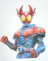 Kamen Rider Agito-Burning Form by vitordramon