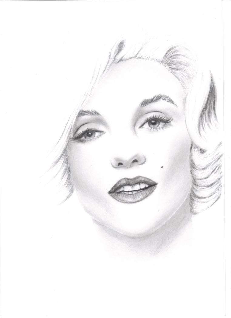 It is a picture of Bewitching Marilyn Monroe Drawing Outline