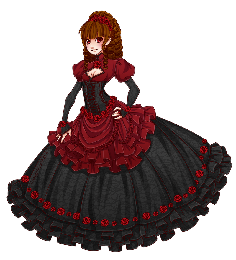 Victorian Lady - Rose Red [CLOSED] by XAngelFeatherX