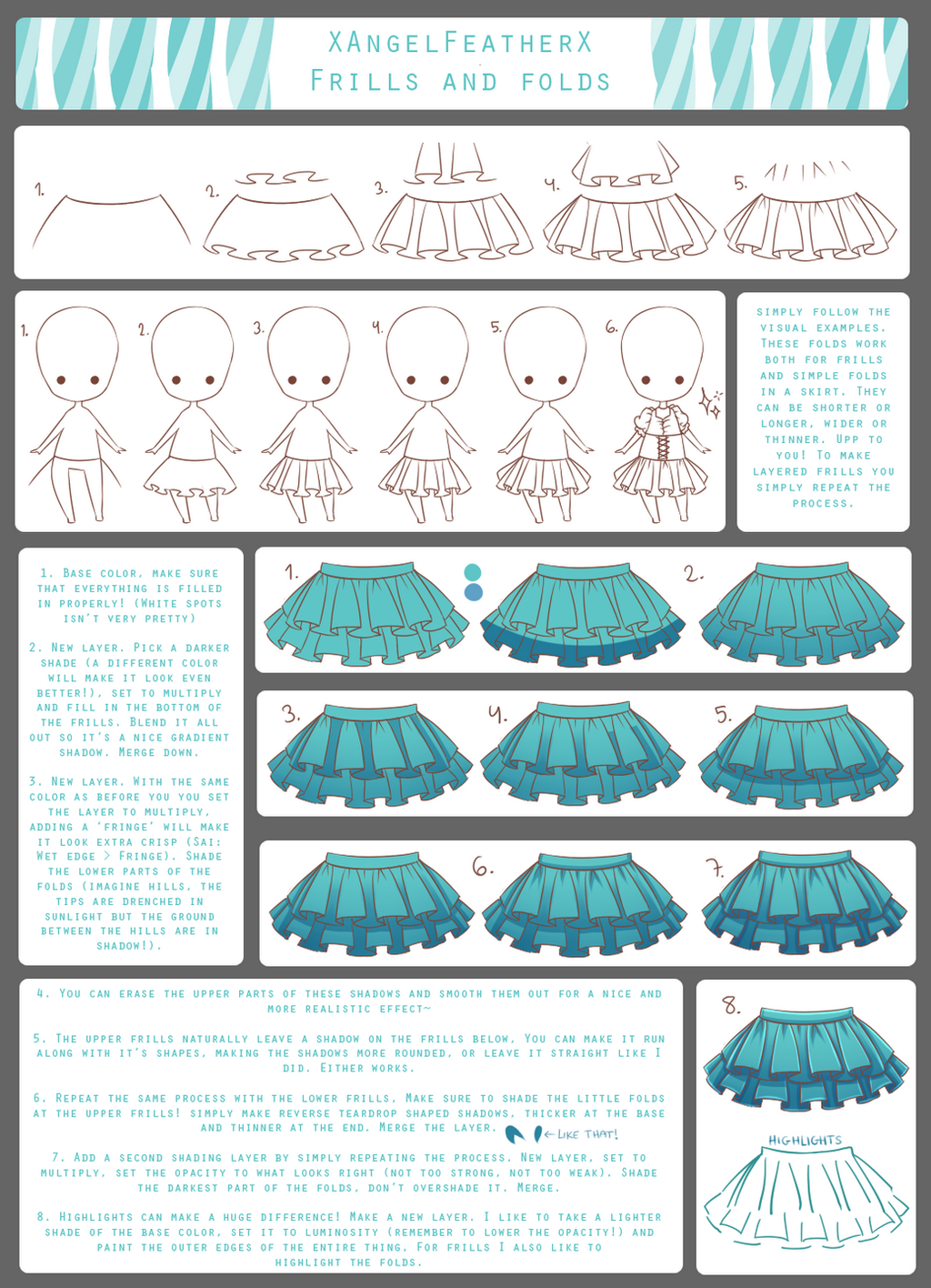Tutorial  Frills And Folds By Xangelfeatherx