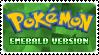 Stamp - PKMN Emerald Version by kaitoupirate