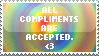 Stamp - Compliments Accepted. by kaitoupirate