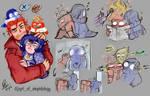 AngerxSadness doodles (yes I know)
