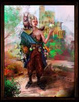 Half Elf Alchemist by s-mcmurchy