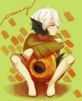 That Orange Kid by picopuri