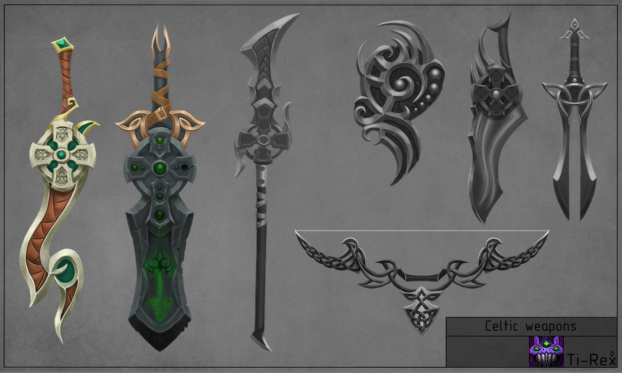 Celtic-weapons by Ti--Rex on DeviantArt