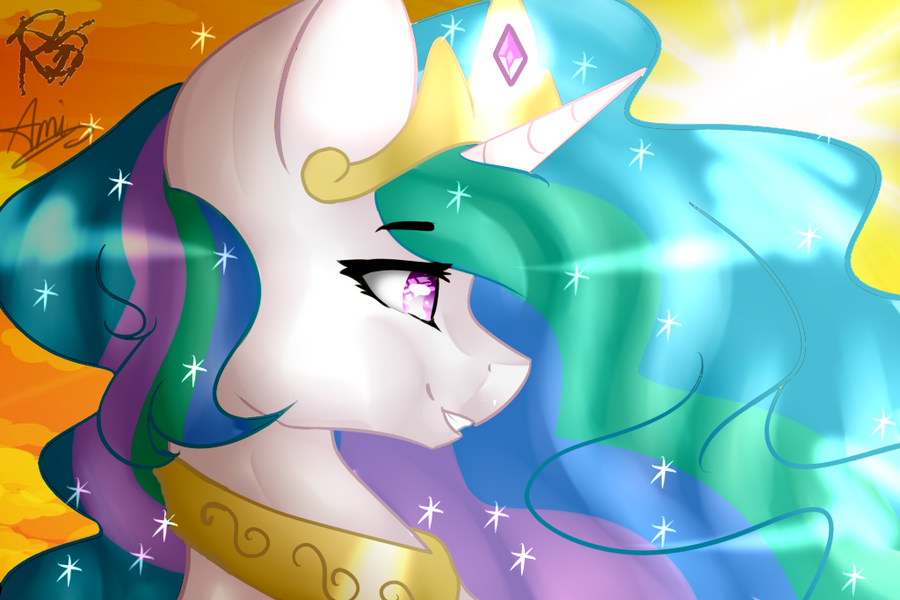 [BIG COLLAB ] Princess Celestia by Yuki-ArtYT