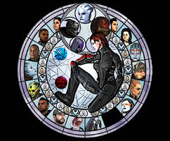 Mass Effect stained Glass