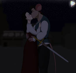 ~My lips are only yours, milady~
