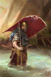 045 - roman legionary WIP 02 by NickProkoArt