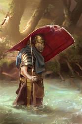 045 - roman legionary WIP 03 by NickProkoArt
