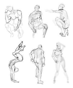 051 - 120 seconds sketches on iPad from photos