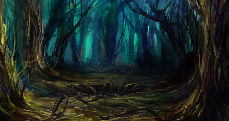 sunken forest by Koily