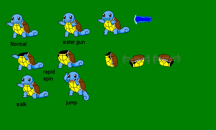 Squirtle sprite sheet by ^
